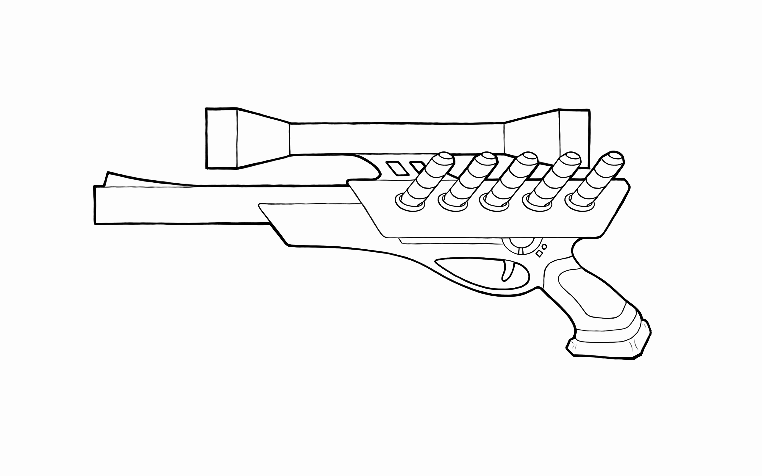 Ray Gun Coloring Pages